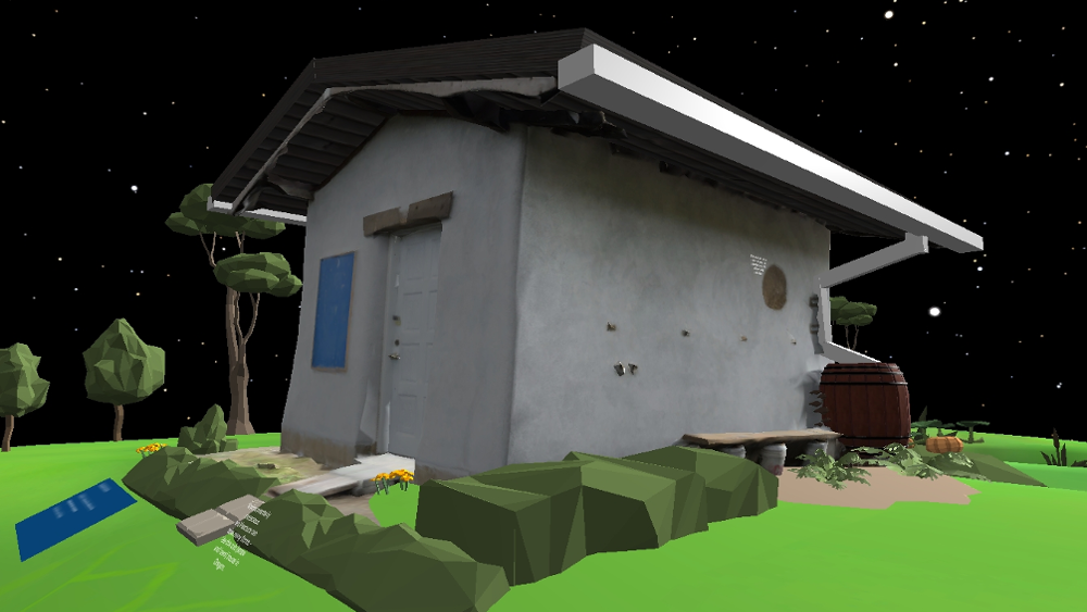 AltspaceVR environmental education photogrammetry cob house